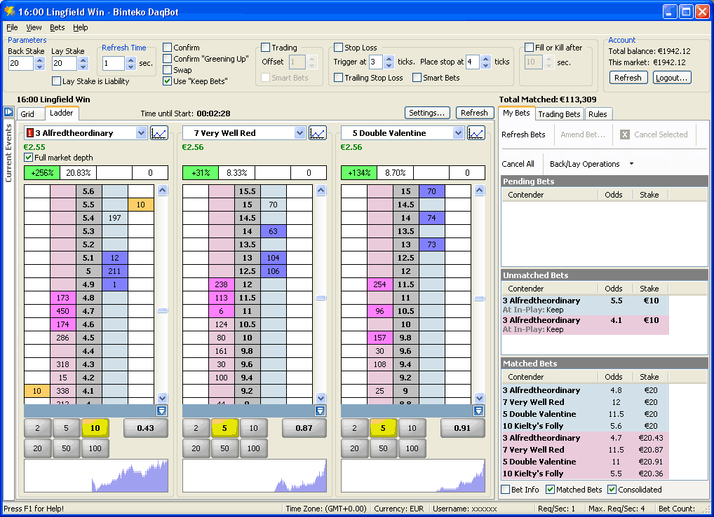 Sports trading system software